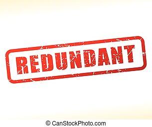 redundant text buffered - Illustration of redundant text ...