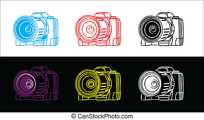 reflex camera - illustration of reflex camera