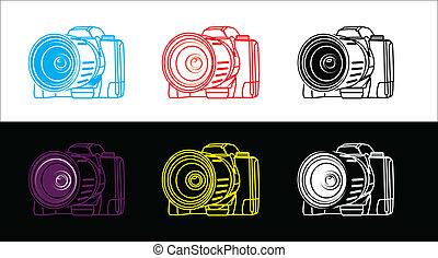 reflex camera - illustration of reflex camera