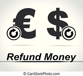 refund money icons on white background