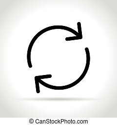 reload line icon on white background