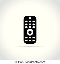 remote control icon on white background