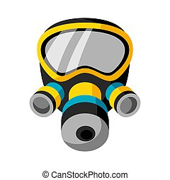 Illustration of respirator isolated on white background