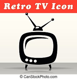 retro tv vector icon design