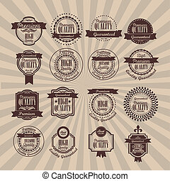 illustration of retro vintage label, Premium Labels, vector illustration