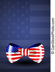 Ribbon with American flag