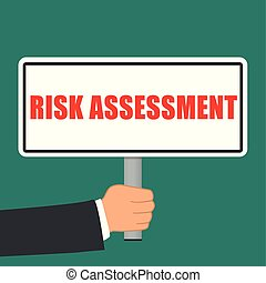 risk assessment sign flat concept