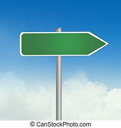 illustration of road sign