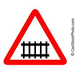 Illustration of road sign railroad