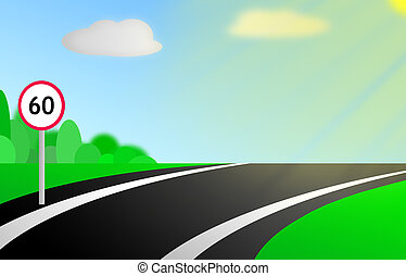 Illustration of road
