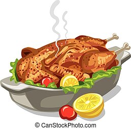 roasted baked chicken