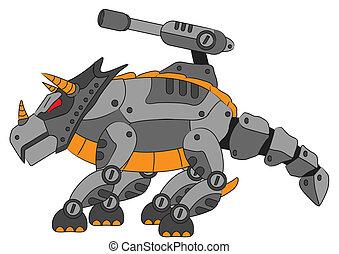 triceratops - illustration of robotic triceratops