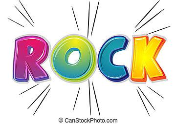 rock - illustration of rock on white background