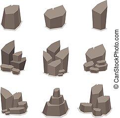 Illustration of rock set vector art