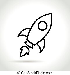 rocket icon on white background
