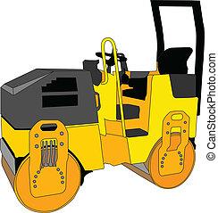 roller - vector - illustration of roller - vector
