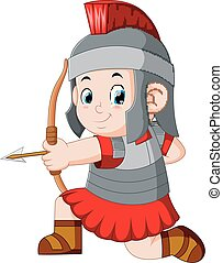 roman soldier with bow