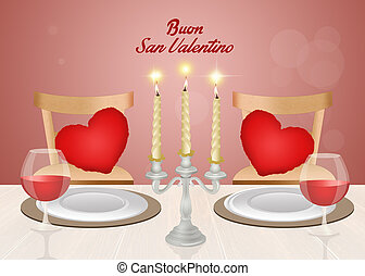 romantic dinner for Valentines day