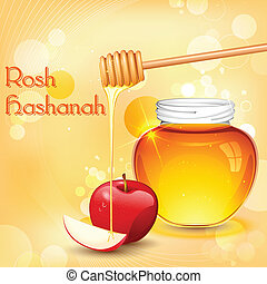 Rosh Hashanah - illustration of Rosh Hashanah background ...