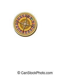 roulette - illustration of roulette board on white...