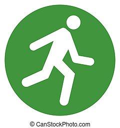 run green circle icon