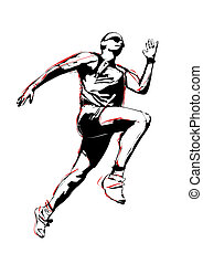 runner - illustration of runner