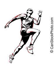 illustration of runner