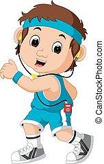 runner man cartoon