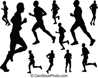 running people - vector