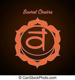 Sacral Chakra - illustration of Sacral Chakra