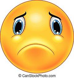 Sad emoticon face