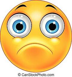 Illustration of Sad emoticon face