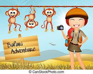 Illustration of safari animals