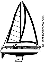 illustration of Sailing yacht