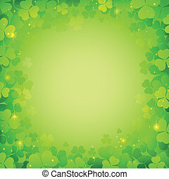 illustration of Saint Patrick's Day Background with clover leaf
