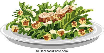 salad caesar with croutons