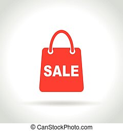 sale bag icon on white background