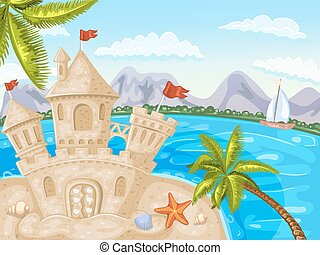 Illustration of sand castle