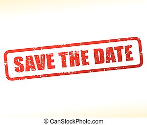 save the date text buffered
