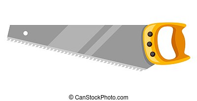 Illustration of saw on white background isolated