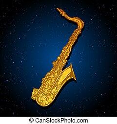 illustration of saxophone