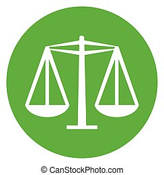 scales green circle icon
