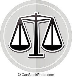 scales sticker icon - Illustration of scales sticker icon...
