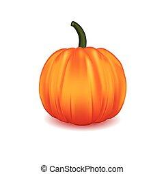 Scary Halloween pumpkin isolated