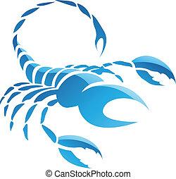 Scorpio Zodiac Star Sign - Illustration of Scorpio Zodiac ...