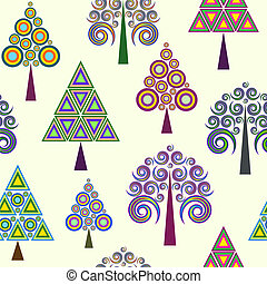 abstract trees on light background