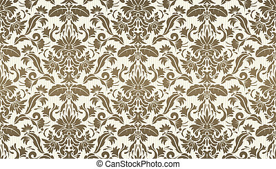 Decorative wallpaper background - illustration of Seamless ...