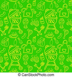 seamless pattern for barbecue