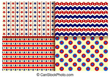 Seamless Pattern for Fourth of July background for Happy Independence Day of America