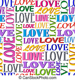 seamless pattern with words LOVE